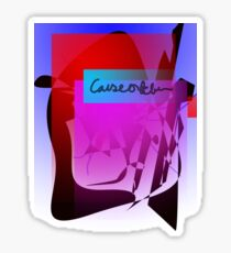 Causeofb Cursive  Sticker