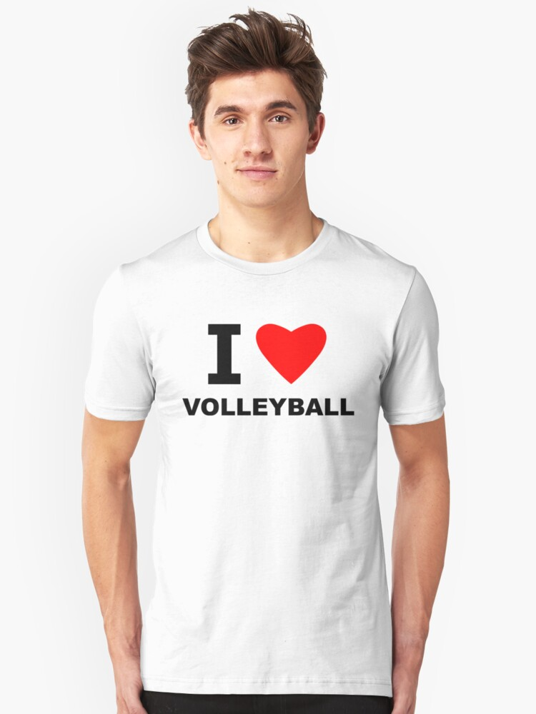 I Heart Volleyball Unisex T-Shirt Front