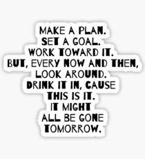 Make a Plan Sticker