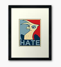 HATE Framed Print