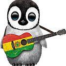 Baby Penguin Playing Bolivian Flag Guitar von jeff bartels