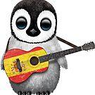 Baby Penguin Playing Spanish Flag Guitar von jeff bartels