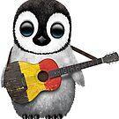 Baby Penguin Playing Belgian Flag Guitar von jeff bartels