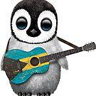 Baby Penguin Playing Bahamas Flag Guitar von jeff bartels