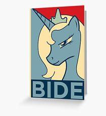 BIDE Greeting Card