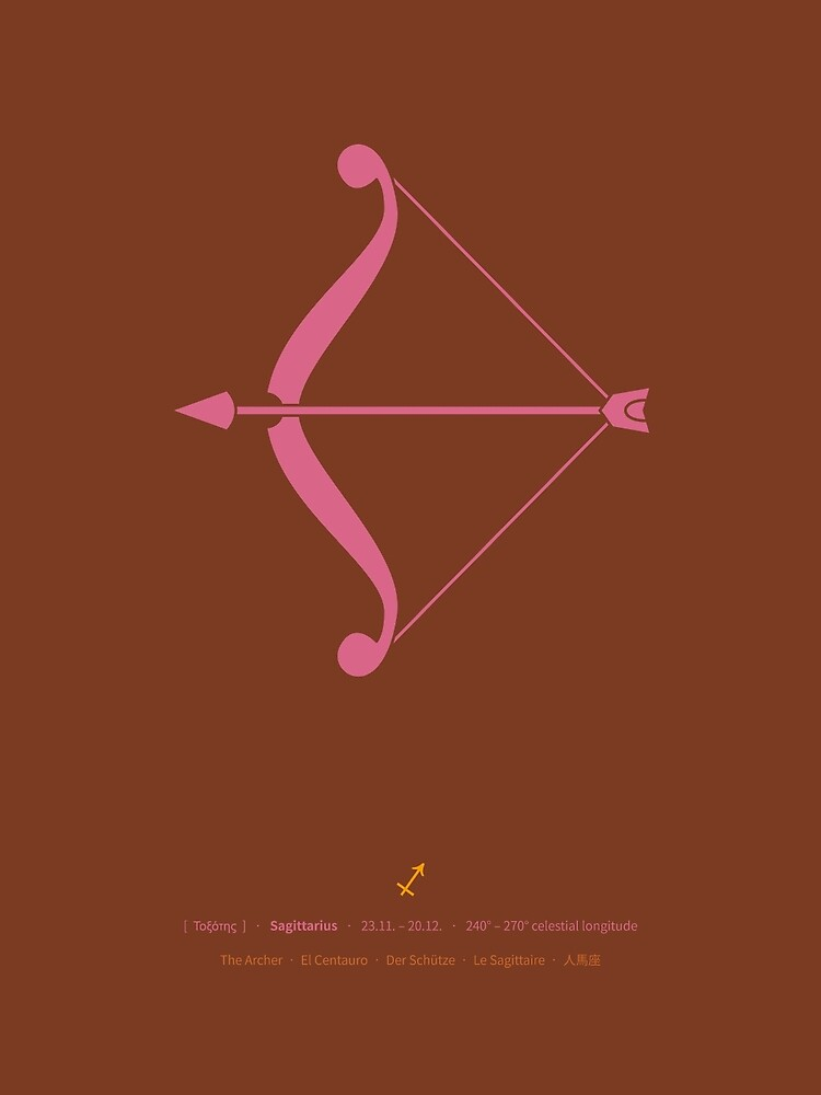Sagittarius Zodiac / Archer Star Sign Poster by Thoth-Adan