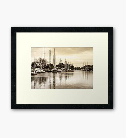 Exeter Ship Canal Framed Print