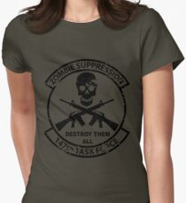 147th Zombie Suppression Task Force Women's Fitted T-Shirt