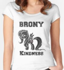 BRONY Fluttershy Women's Fitted Scoop T-Shirt