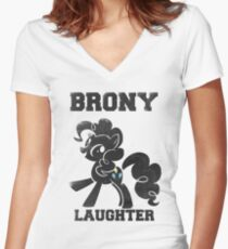 BRONY Pinkie Pie Women's Fitted V-Neck T-Shirt
