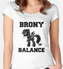 BRONY Little Wing OC Pony Women's Fitted Scoop T-Shirt