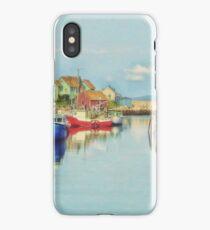 Peggys Cove Village Nova Scotia Canada iPhone Case/Skin
