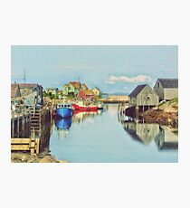 Peggys Cove Village Nova Scotia Canada Photographic Print