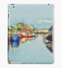 Peggys Cove Village Nova Scotia Canada iPad Case/Skin