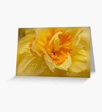 Easter card - daffodil Greeting Card