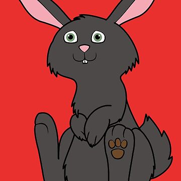 Sitting Black Rabbit by Grifynne