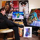 Portrait of Mike the Artist by thermosoflask