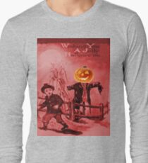 The Scarecrow (Vintage Halloween Card) Long Sleeve T-Shirt