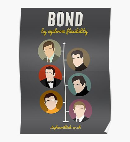 Bond, by eyebrow flexibility Poster