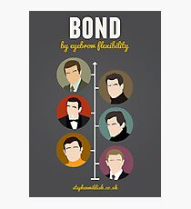 Bond, by eyebrow flexibility Photographic Print
