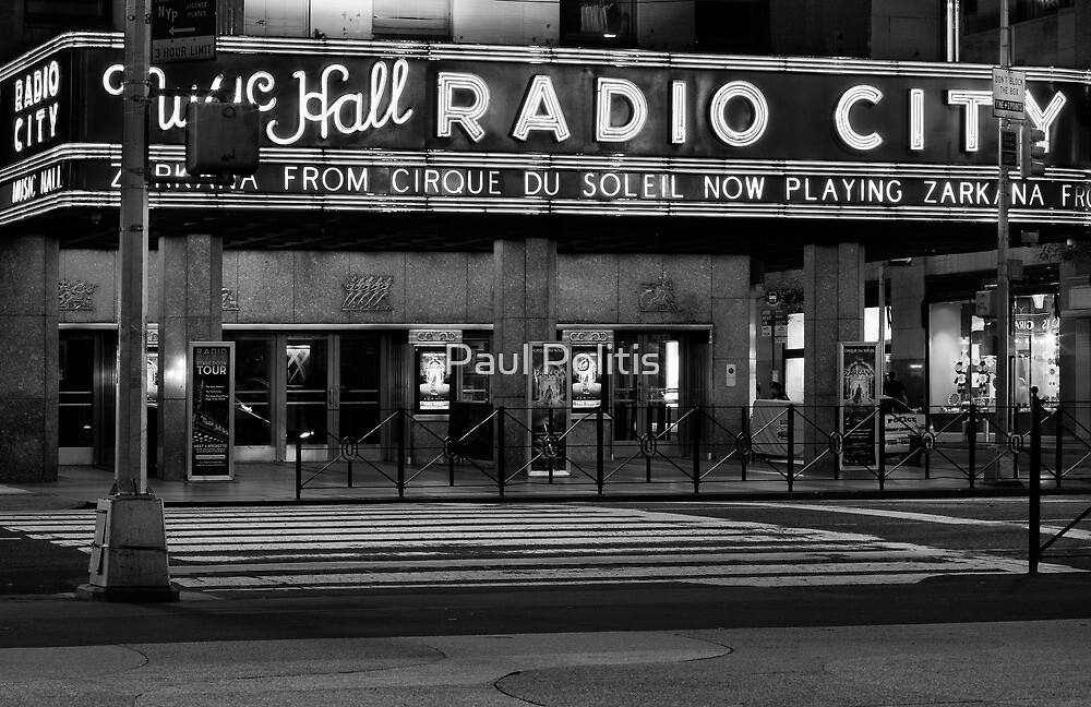 Radio City Music Hall at Night by Paul Politis
