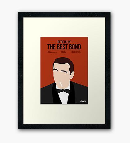 Officially the best bond - Connery! Framed Print