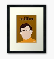 Officially the best bond - Lazenby! Framed Print