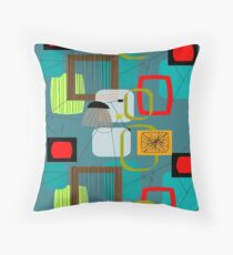 Mid-Century Modern Abstract Art III Throw Pillow