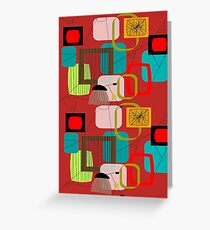 Mid-Century Modern Abstract Art Greeting Card