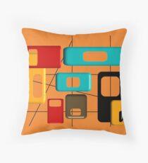 Mid Century Modern Geometric Design Throw Pillow