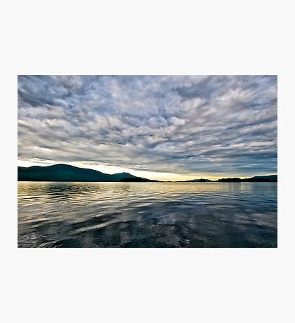 Sunrise on Lake George Photographic Print