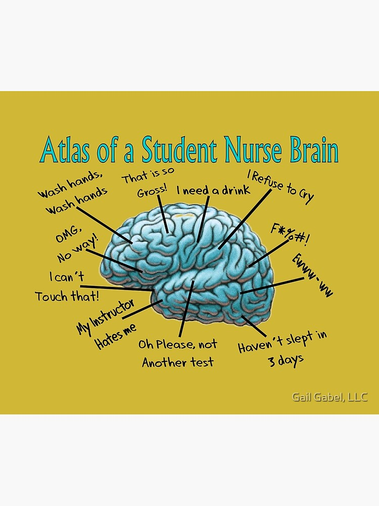 Nursing Student Humor Brain by gailg1957