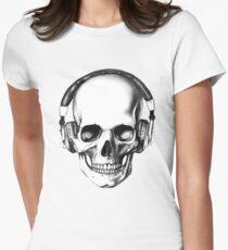 SKULL HEADPHONES Women's Fitted T-Shirt