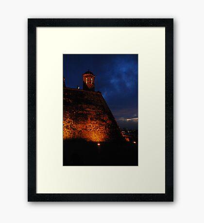 Cartagena Castle Framed Print