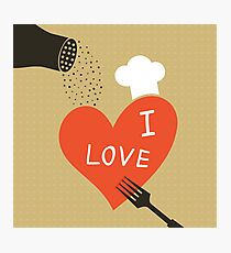 Cooking love Photographic Print