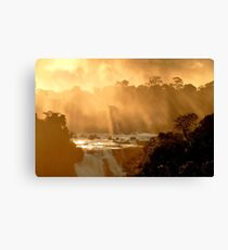 sunrays at Iguassu Falls Canvas Print