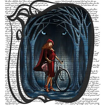 Art Nouveau RED RIDING HOOD de SFDesignstudio