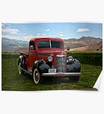 1940 Chevrolet 3/4 Ton Pickup Truck Poster