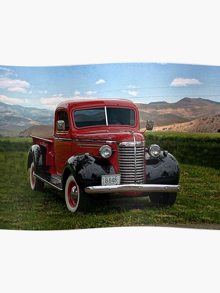 1940 Chevrolet 3 4 Ton Pickup Truck Poster