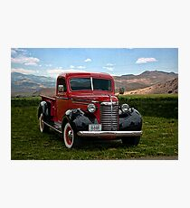 1940 Chevrolet 3/4 Ton Pickup Truck Photographic Print