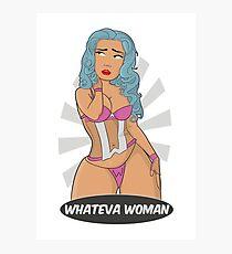 Super Hero - Whateva Woman Photographic Print