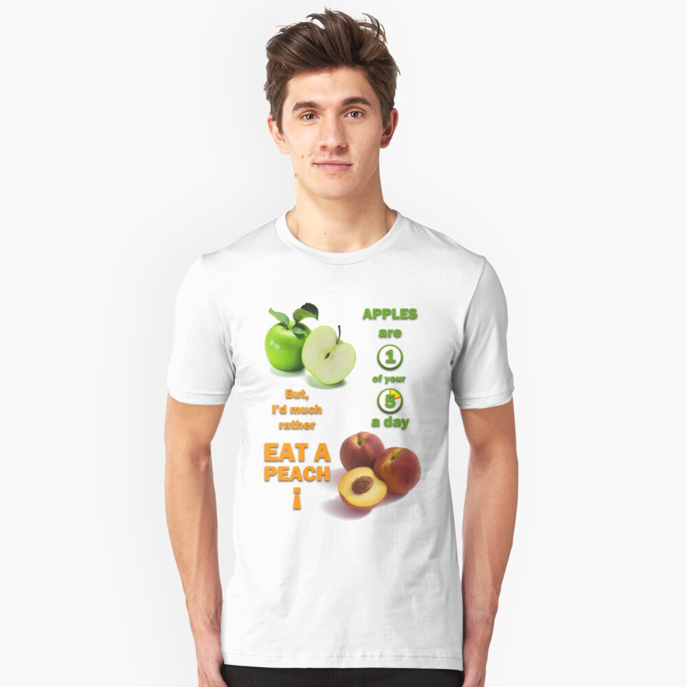 Apples are 1 of your 5 a day Unisex T-Shirt Front