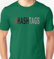Twitter Hashtag (Black/Grey) Unisex T-Shirt