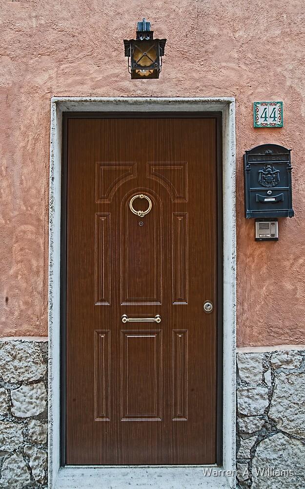 Door 44 in Segni Italy by Warren. A. Williams
