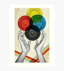 CMYK - the creation of retro Art Print