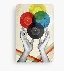 CMYK - the creation of retro Metal Print