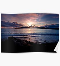 Sunset over Bolus - Co. Kerry Poster