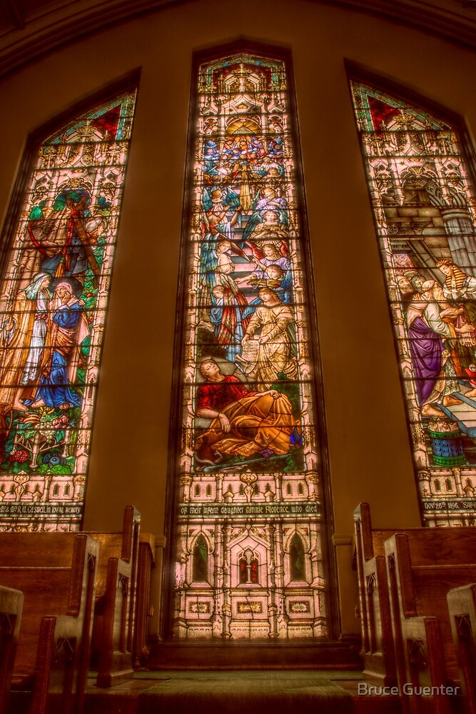 Knox United Church Stained Glass by Bruce Guenter