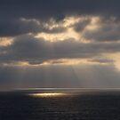 Clouds an Sun Rays at Sunset - Nubes y Rayos del Sol en la Tardecér by PtoVallartaMex