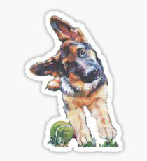 German Shepherd Fine Art Painting Sticker
